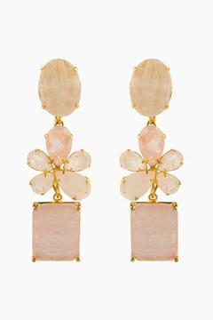 Bounkit Rose Quartz & Moonstone Convertible Earrings