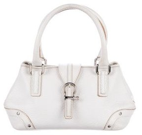 Burberry Leather Handle Bag - WHITE - STYLE