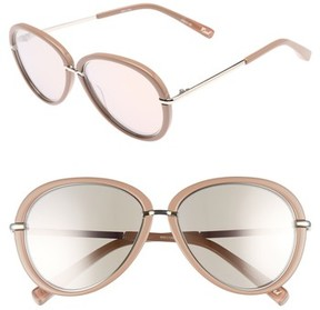 Elizabeth and James Women's Reed 57Mm Aviator Sunglasses - Stone