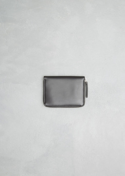 Maison Margiela black medium zip around wallet