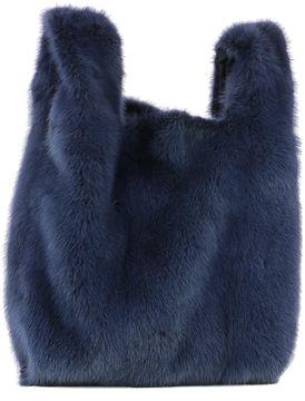 Blue Mink's Fur Handle Bag
