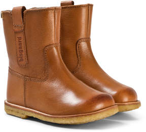 Bisgaard Cognac Leather boots
