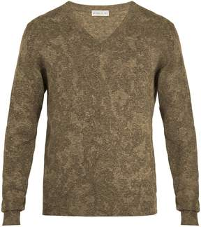 Etro V-neck cotton-blend knit sweater