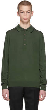 Paul Smith Green Long Sleeve Merino Polo