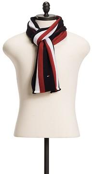 Tommy Hilfiger Collegiate Stripe Wool Scarf