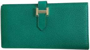 Hermes Béarn leather wallet - BLUE - STYLE