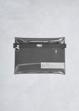 MM6 Maison Margiela dark grey pvc clutch