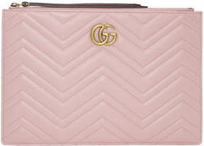 Gucci Pink GG Marmont 2.0 Pouch - PINK - STYLE