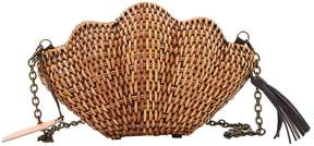 Kayu Brown Wicker Clutch Bag