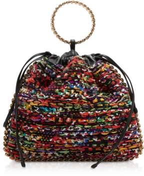 Balmain Multicolor Tweed Tricot B-Link Bracelet Backpack