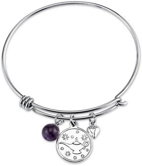 Disney Sterling Silver Whole New World Aladdin Lamp Expandable Bangle Bracelet