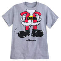 Disney Mickey Mouse Santa Suit T-Shirt for Adults - Walt World
