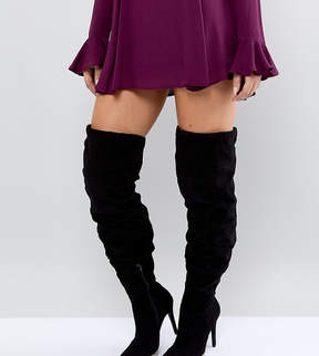 New Look Wide Fit Thigh High Heeled Boot