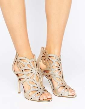 Miss KG Flutter Gold Cut Out Heeled Sandals