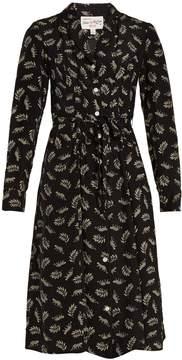 DAY Birger et Mikkelsen HVN Sarah Tarzan Leopard-print silk dress