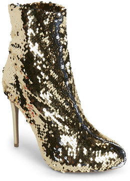 Wild Diva Gold Loren Sequin Booties