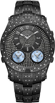 JBW Jet Setter III Black Ion-Plated Stainless Steel 1.18 C.T.W Diamond Accent Mens Black Bracelet Watch-J6348d