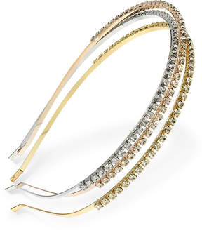 Inc 3-Pc. Tri-Tone Crystal Headband Set