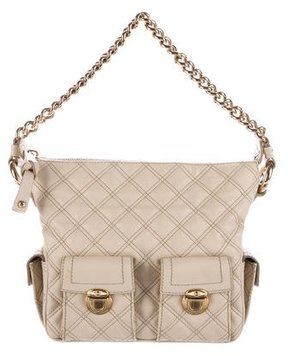 Marc Jacobs Quilted Leather Shoulder Bag - WHITE - STYLE