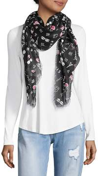Karl Lagerfeld Women's Ditzy Paris Graphic Scarf