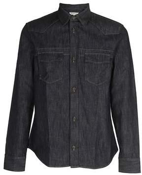 Maison Margiela Men's Blue Cotton Shirt.