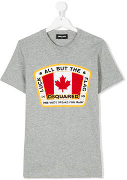 DSQUARED2 Teen Canadian Flag patch T-shirt