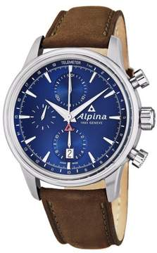 Alpina AL-750N4E6 Stainless Steel & Leather Blue Dial Automatic 41.5mm Mens Watch