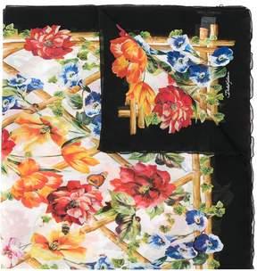 Dolce & Gabbana floral print scarf