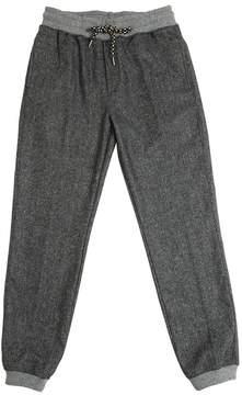 Fred Mello Wool Blend Herringbone Sweatpants