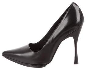 Ann Demeulemeester Pointed-Toe Leather Pumps