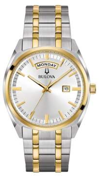 Bulova 98C127 Silver/Gold 39mm Stainless Steel Classic Mens Watch