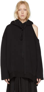 Ann Demeulemeester Black Tony Cold Shoulder Hoodie