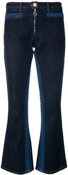 Courreges contrast flared jeans