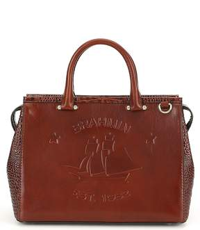 Brahmin Elton Collection Logo Schooner Satchel