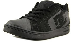 DC Net Round Toe Leather Skate Shoe.