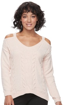 Candies Candie's Juniors' Candie's® Velvet Cold-Shoulder Sweater