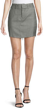 RtA Callie A-Line Virgin Wool Mini Skirt