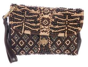 Roberto Cavalli Embellished Leather Clutch
