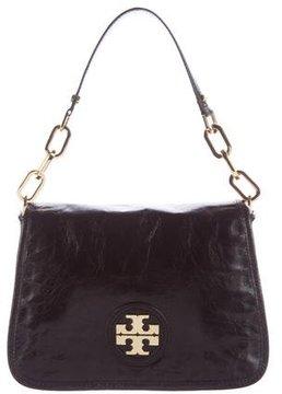 Tory Burch Leather Flap Shoulder Bag - BLACK - STYLE