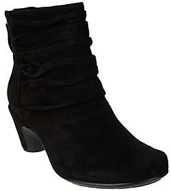 Earth Earthies Suede Ruched Ankle Booties - Vicenza