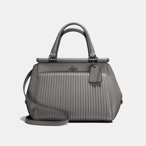 COACH Coach Grace Bag With Quilting - DARK GUNMETAL/HEATHER GREY - STYLE