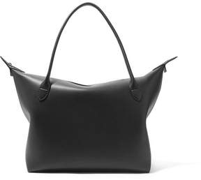 The Row Lux Satchel Leather Tote - Black