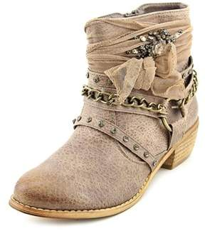 Not Rated Tootie Women Round Toe Canvas Brown Ankle Boot.