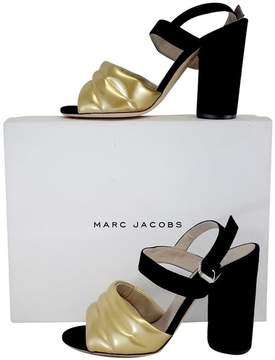 Marc Jacobs Black & Gold Chunky Sandal Heels