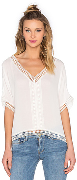 Bishop + Young Embroidered Trim Top
