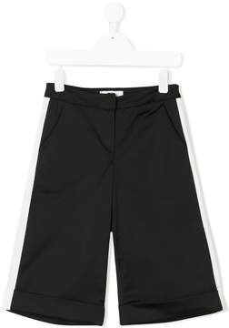 MSGM contrast stripe shorts