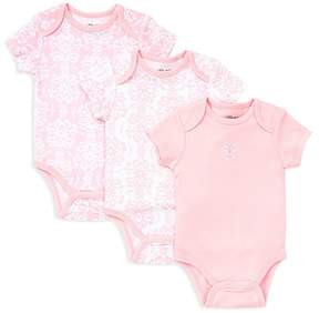 Little Me Girls' Damask Scroll Bodysuit, 3 Pack - Baby