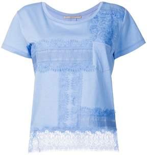 Ermanno Scervino lace trim T-shirt