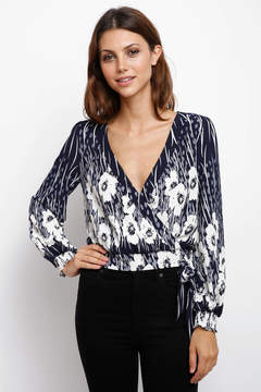 Flying Tomato Mixed Floral Print surplice Blouse