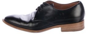 Celine Leather Round-Toe Oxfords
